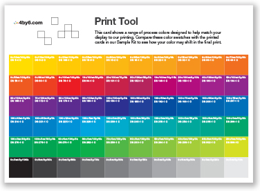 Our Print Tool Color Swatches Are Included On The Back Of Each Paper Type In Sample Kit Download PDF Which Will Help You